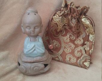 Beautiful monk buddha decor incense holder