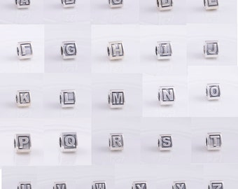Alphabet Letters Charms Personalised Designed to Fit Pandora Biagi and similar bracelets