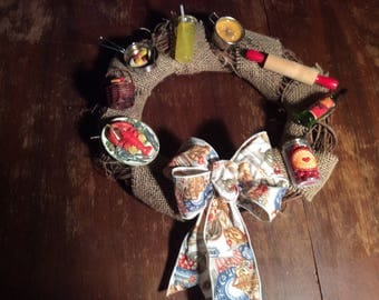 Wreath with a Kitchen Theme