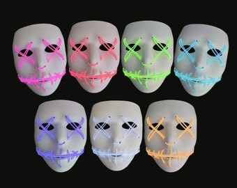 Light Up Mask (Halloween, Cosplay, Rave, Party, Movie)