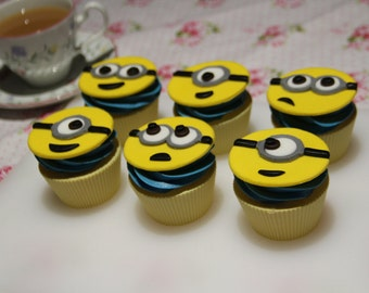 Minion inspired cupcake toppers