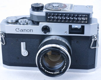CANON P rangefinder 35mm camera, with Canon meter and 50mm/1.8 lens