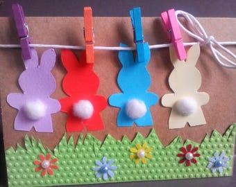 funny Easter card, Easter cards handmade, Easter rabbit card, Easter bunny card, Easter bunny rabbit card, happy Easter card, Easter card