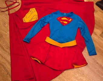 80's Supergirl style movie costume custom made