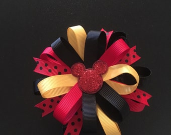 Mickey Mouse theme loopy bow