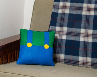 Decorative Felt & Fleece Luigi Pillow from Nintendo's Mario