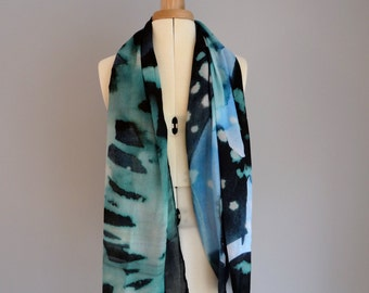 Midnight digitally printed scarf.