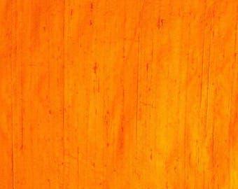 Orange Dupion Raw Silk