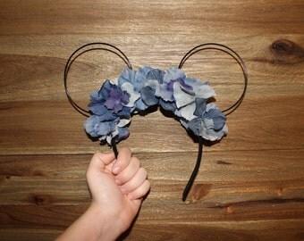 Light and Dark Blue Wire Minnie Ears