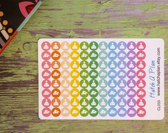 Yoga Planner Stickers | Yoga Stickers | Great For Erin Condren Life Planner | Use In Happy Planner | Mini Dot Planner Stickers | CL033