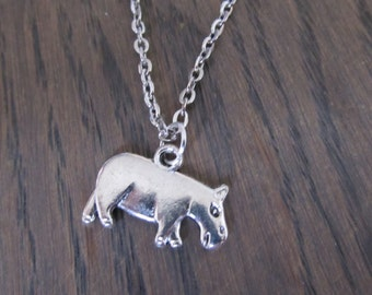 Necklace with pendant Nile horse