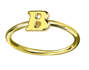 Personalized Tiny Letter Initial  Ring Monogrammed Your Last Name