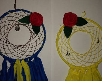 Beauty and the Beast Inspired Dreamcatchers