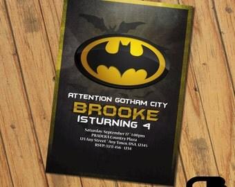 Batman Invitation - Batman Invite - Batman Birthday Invitation - Batman Birthday Party - Batman Digital File Download