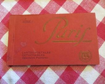 Serie 1 paris cartes postales detachables detachable postcards LL  w/free ship