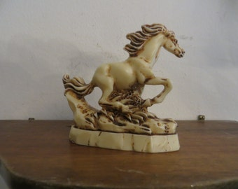 Horse figuring Statue Sculpture Vintage Wild Stallion Art w/ free ship