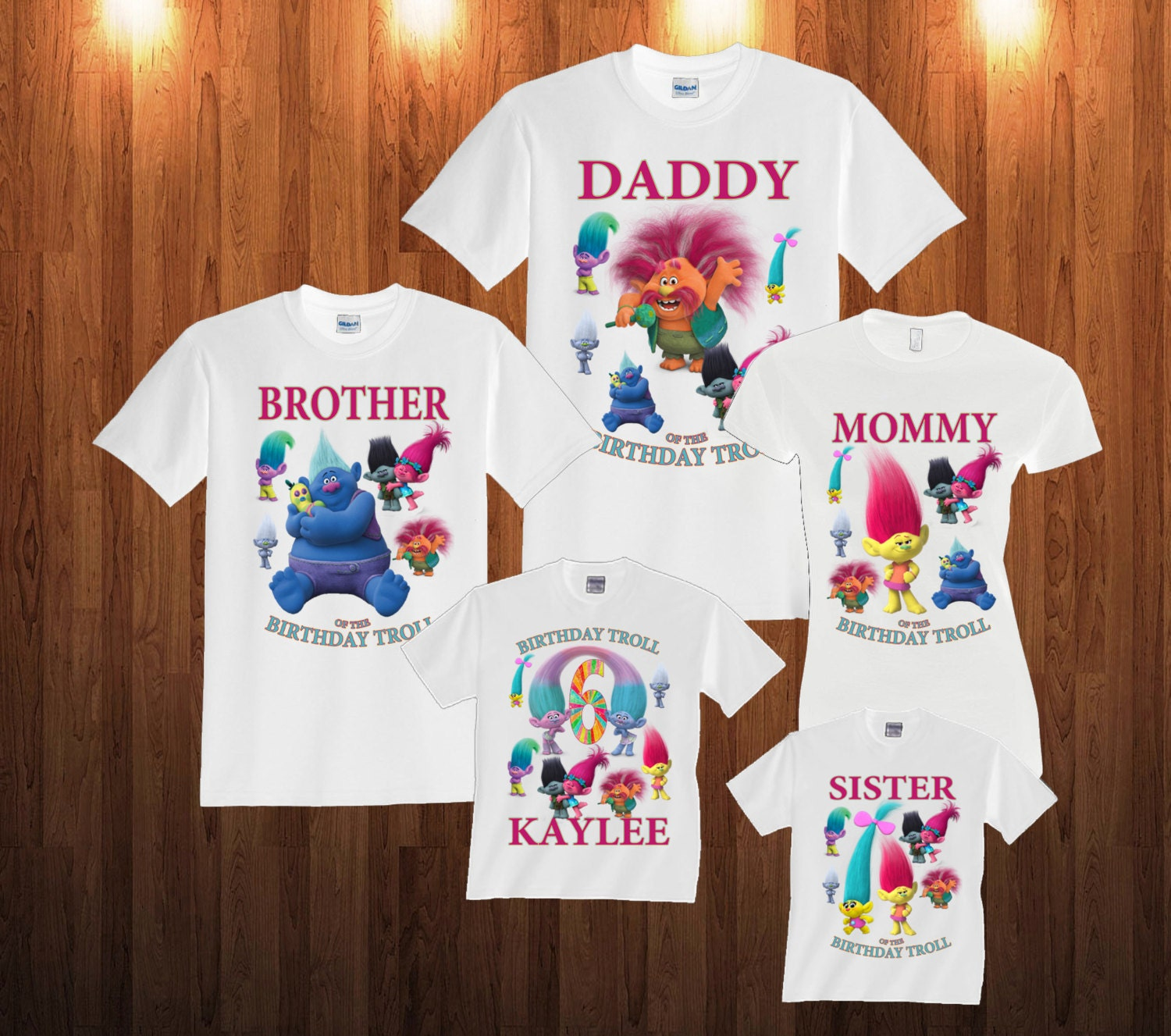 Design your own t shirt infant - Trolls Birthday Long Sleeve And Short Sleeve Shirt Custom Personalized T Shirts For All Family