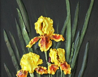 "Greeting Cards 5-pack of ""Golden Iris"""