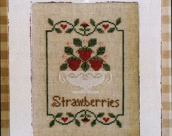 Summer Strawberries by Country Cottage Counted Cross Stitch Pattern/Chart