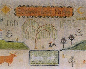 Brown Egg Farm by Notforgotten Farm Counted Cross Stitch Pattern/Chart