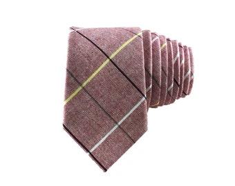 Red Tartan Cotton Tie