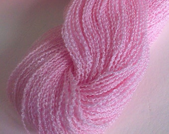 Pink Lace/Light Fingering Weight Textured Yarn Skein (300meters) Mixed Fibre Content