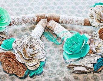 Bridesmaids Paper Flower Bouquet- customizable
