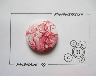 1 XXL fabric button 50 mm, buttons, children buttons, buttons, buttons, buttons, fabric buttons, button, buttons, sewing button, craft button, Elf, elf