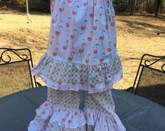 Little girls flamingo outfit size 2.