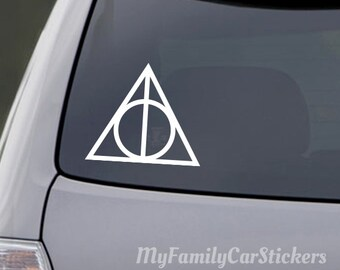 Deathly Hallows Car Decal, Harry Potter Car Decal Sticker, Laptop Sticker