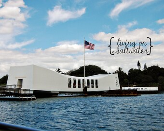 USS Arizona - Pearl Harbor - Hawaii Photography - Multiple Sizes