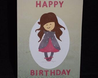Handmade Birthday Card - Personalised