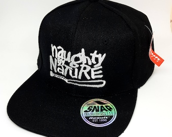 Retro Hip Hop - Naughty by Nature inspired Custom Embroidered 6 panel Snapback