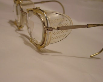 Vintage safety glasses, steampunk glasses, 1950s glasses, eyewear, CESCO