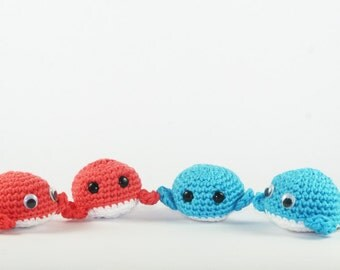 amigurumi crochet whale, plush whale, kawaii whale toy, animals from the sea, marine decor, kids room decoration