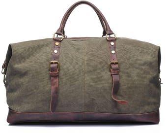 Leather Duffle Bag, Weekender Bag Mens, Waxed Canvas Duffle Bag, Man Duffel Bag, Mens Leather Weekend Bag, Personalized Duffle Bag, Gym Bag