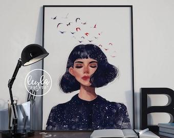 Digital Art Print - Original Illustration | A6/A5/A4/A3 Illustration Print | Digital Artwork Poster | For Him, For Her