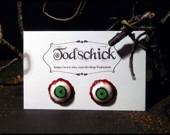 Eye Stud Earrings - absinthgrün