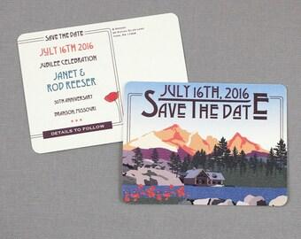 The Hideout Lodge Kirkwood California Save the Date Postcards - JA1