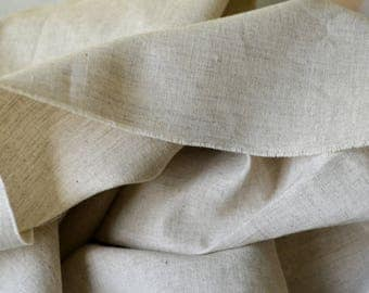 Pure linen cotton fabric Natural gray beige fabric for clothes Home decoration Fabric by the yard Linen textile 100% natural fabric