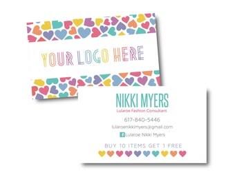 Customized Business Card File- digital file- Hearts