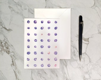 Greeting Card - Blueberries