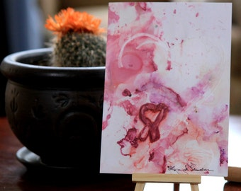 Breast Cancer Awareness Gifts - Breast Cancer Gifts - Alcohol Ink Painting - Alcohol Ink Paintings - Original Art - Breast Cancer Gift Ideas
