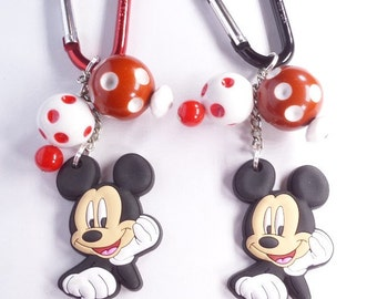 Mickey Mouse Inspired Carabiner Backpack Clip, OOAK A4