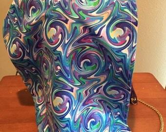 Trippy Swirls Festival Hood - Blue