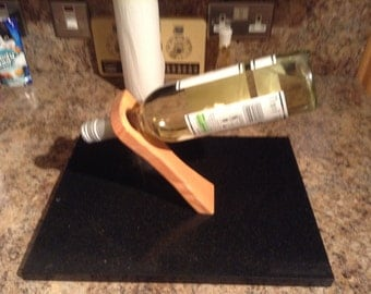 Floating Wine Bottle Holder in Douglas Fir