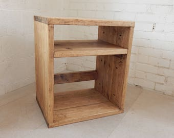 Record Cabinet Bookcase Rustic Solid Reclaimed Wood Industrial Various Sizes and Colours