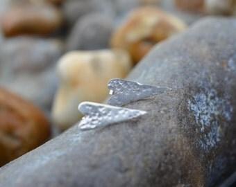Hammered Heart Stud Earrings.
