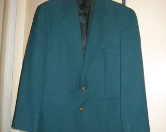 Vintage Palm Beach Teal Sport Coat, Blazer Size 40R
