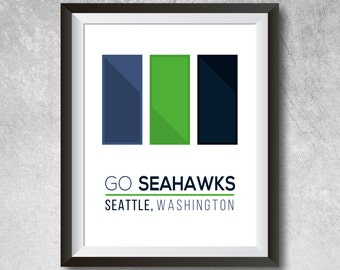 Seattle Wall Art seahawks wall art | etsy